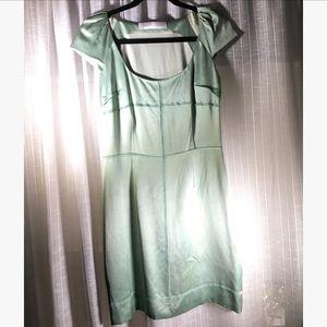 VINTAGE PROENZA SCHOULER sea green dress